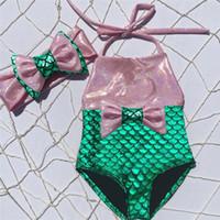 ازياء الصيف طفل الاطفال السباحة بنات الطفل القوس بيكيني شاطئ Tankini ثوب السباحة ملابس السباحة ملابس السباحة