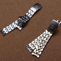 Haute qualité 19mm 20 mm PRC200 T17 T461 T014430 T014410 bande Montre Pièces bande mâle solide montre-bracelet straps bracelets en acier inoxydable