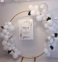 زهرة حلقة الباب الحديد المطاوع قوس زفاف ديكور الدعائم في الهواء الطلق خلفية حامل حفل زفاف ديكور الدعائم