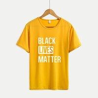 أسود الأرواح MATTER القمصان النسائية وصول جديدة قصيرة الأكمام تي شيرت رجالي رسالة طباعة قمم للمرأة 2020 جديد عادية Outsoorwears كبير جدا