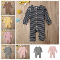 Jumpsuits Kids Striped Boy Designer Clothes Long Sleeve Casu...