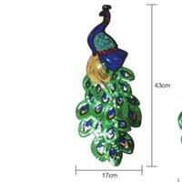 5pcs colorido del pavo real bordado de lentejuelas de tela grande apliques Patch cordón africano hierro en vestido de paño de Decorar accesorios de bricolaje