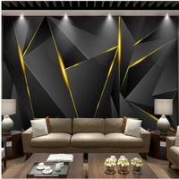 Пользовательские обои современный черный золотой Атмосферный фон стены 3D фон настенная живопись современные обои для гостиной