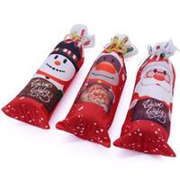 Vinflaska täcka dammväska jul snögubbe hjort röd viner förpackning påse bröllop dekoration multi färg 4jl c r