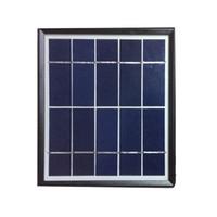 لوحة 6V 3W الشمسية شاحن البطارية الشمسية للماء 18٪ المجلس خلية التحويل بولي سيليكون للطاقة الشمسية