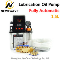 Vollständige Set CNC Automatische Schmierölpumpe 1.5L digitale elektronische Timer-Gangpumpen für CNC-Maschine newcarve
