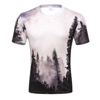 2019 Nuovi arrivi Mens 3d T-shirt Stampa Winter Forest Trees Quick Dry Summer Top Magliette di marca Tshirts Plus Size