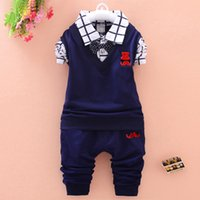 good quality spring autumn baby boy clothing sets kids toddl...