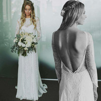 Bohemian Plus Size Mermaid Wedding Dresses Jewel Neckline Lo...