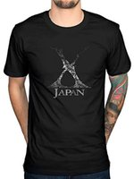 X Japan Leaves Adult Black Casual funny Short Sleeved pure C...