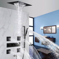 Multiple Function Recessed Ceiling Shower Set Rain&Waterfall...