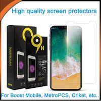 Pour iPhone 12 Pro XR XS Pro XR XS Tempérez le protecteur d'écran LG Stylo 7 K22 Moto G Power 2021 g Jouer Sam A02S A52 A72 A12