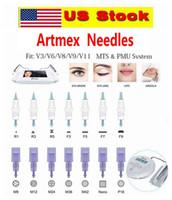 US Stock !!! PMU MTS Maquillage permanent Machine de remplacement Cartouche de tatouage Aiguilles de tatouage pour ArtMex V9 V8 V6 V3 PEN DE DERMA