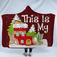 Manta con capucha de Navidad Adultos Childs Impreso en 3D Felpa Sherpa Fleece Mantas Throw Cloak Capes Warm Soft Towel Textiles para el hogar GGA2588