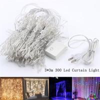 Luzes de Sintel Cortina LEVOU, Luz Da Corda Da Janela Cortina LED férias luzes corda 3 * 3 m 300 leds Para O Partido Decoração Do Casamento