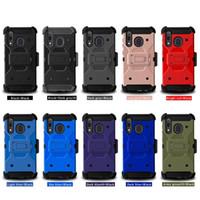 Pour LG 6 K51 Hybrid Stylo lourd + accidentées Defender Holster de protection clip Robot Pour Samsung Galaxy A01 A11 Téléphone Case D1