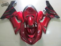 Personaliseer Backset voor Kawasaki 2005 2006 ZX6R Ninja ZX636 ZX 6R 05 06 ZX-6R Rood Zwart Vlammen Motorfiets Fairing Kits TV21