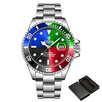 aço Moda Marca TEVISE Homens Stailness Banda Mecânica Automatic Assista Moda Men Luminous relógio de pulso Negócio Data