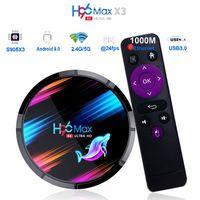 H96 MAX X3 S905X3 صندوق التلفزيون الذكي Android 9.0 4 جيجابايت 32 جيجابايت 64GB Media Player 4K Google Voice Assistant H96Max