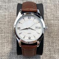 뜨거운 판매 캐주얼 남자 쿼츠 시계 고품질 정품 leathe 달력 시계 블랙 밴드 손목 시계 럭셔리 디자인 남성 인기있는 스포츠 시계