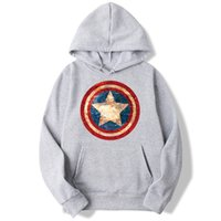 2019 American Superhero Shield Hoodies Men And Women Autumn ...