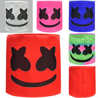 5 Farben DJ Marshmello Maske Cartoon Halloween Party Cosplay Kopfbedeckungen Bar Helm Requisiten Lustiges Spielzeug