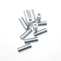 Rompin 100pcs / lot rond blanc réel Aluminium Tube de fil tuyau Crimp manches mer Ligne de pêche Accessoires de tube