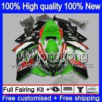 Carrozzeria per Kawasaki ZX 10 R ZX1000C ZX10R 2006 2007 215MY.0 ZX1000 C ZX10R 06 07 ZX 1000CC ZX 10R 06 07 ABS carenature kit Hot verde nero