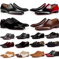 2020 الأزياء الأحمر أسفل الأحذية greggo أورلو شقة جلد طبيعي أكسفورد أحذية رجالي إمرأة المشي الشقق حفل زفاف المتسكعون 38-47