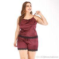 الصيف أنثى بيجامة تعيين المرأة مثير الرباط نصب منصة داخلية مصمم أزياء قمصان النوم الصلبة