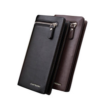 ISHOWTIENDA men Solid simple Long wallet fashion Casual larg...