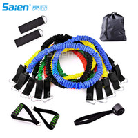 Resistance Bands Set 11 Pieces include 5 Stackable Exercise ...
