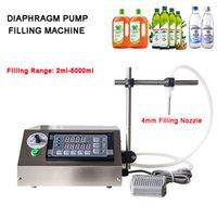 Garrafa 3-5000ML bomba de diafragma pequeno Filler Juice tinta semi-automática Perfume Oil bebidas Vial líquido máquina de enchimento Com Single-bico