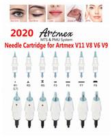 Artmex V3 V6 V8 V9 V11 Reemplazo Agujas de reemplazo Consejos de cartuchos PMU MTS Sistema Permanente Maquillaje Tatuaje Aguja Cuerpo Arte Derma Pen
