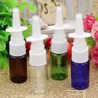 Venta al por mayor 500pcs / lot al por mayor 10 ml PET transparente fina niebla nasal atomizador de la botella del aerosol