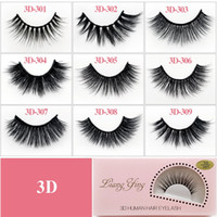3D Mink Eyelash Messy Cross Thick Natural Fake Eye Lashes Pr...