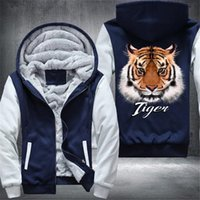Drop shipping USA Size Men' s zip Casual hoodieTIGER ani...