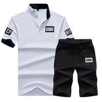 Erkek Casual Sıcak Satış eşofman Nefes -tişörtler Katı Renk Kısa Pantolon Erkek Aktif Spor Moda Giyim