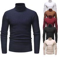 5XL Erkek Sonbahar Tasarımcı Kaplumbağa Boyun Uzun Kollu Katı Renk Moda Stil Homme Giyim Bahar Rahat Konfeksiyon