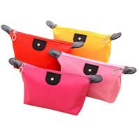 حلوى لون حقيبة مستحضرات التجميل كيس ماء مطوية للمرأة 11 لون اختياري OEM شحن مجاني OEM