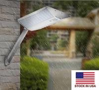 PIR 96 LEDs V-förmig Solarwand-Licht-Lampen-Minigröße 3 Modi im Freien wasserdichten im Freien Garten Pathway Solar Light + US-Aktien