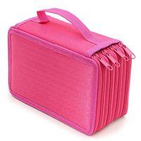 2 ثقوب عالية السعة حقيبة رصاص 4 طبقات لطيف نسيج القرطاسية أكياس تخزين القلم مربع للأطفال اللوازم المدرسية مدرسة الطلاب