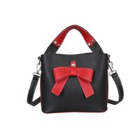 good quality Ladies Top- handle Bag With Bow Women Bucket Sho...