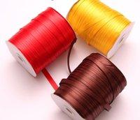 1cm 380 yards cinghia nastro di seta nastro rosso 350m colorata cintura incorniciato fiori confezione box zucchero torta regalo nastro manfacture proposta d'