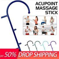Masajeador punto gatillo SelfMassage Stick gancho cuerpo alivio muscular Original caña masajeador de espalda herramientas terapéuticas presión