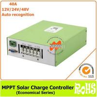 Freeshipping Ecnomical 40A 12 V / 24 V / 48 V otomatik tanıma MPPT RS232 haberleşme portu ile solar şarj kontrolörü