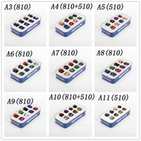 17 Styles Set Epoxy Resin 510/810 Tropfspitzen-Kit Tropfer Tip Skin Grid Regenbogen-Mundstück für E-Cigs-Zigarette Mod Atomizer Vape