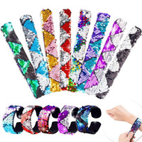 Mermaid Sequins Slap Bracelets 2 colorway reversible Sequin ...