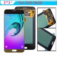Super LCD AMOLED per Samsung Galaxy J3 2016 J320 J320F J320H J320M J320FN Display LCD Touch Screen Digitizer sostituzione sostituzione