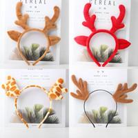 Festa di Natale Principessa Queen Cartoon Hollow Hairbands Halloween Foresta Antlers Hairwear Elk Stile Cerchietti